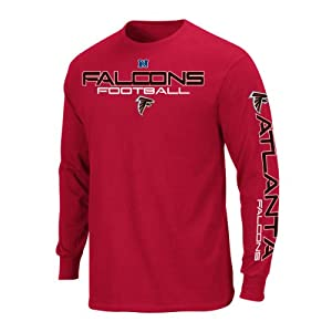 NFL Atlanta Falcons Primary Receiver III Long Sleeve T-Shirt - Red - by VF LSG