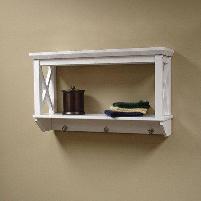 Sourcing Solutions X-Frame Bathroom Wall Shelf, White Finish