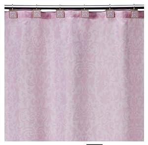 Tiddliwinks baroque damask shower curtain for Light pink shower curtain