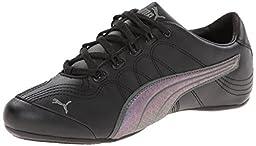 PUMA Women\'s Soleil V2 Women\'s Sneaker,Black/Dark Shadow,10 B US
