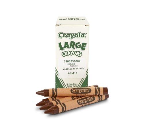 Crayola Bulk Crayons Large Size, Brown - Pack of 12