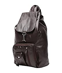 New Zovial Classic Brown PU Small Backpack
