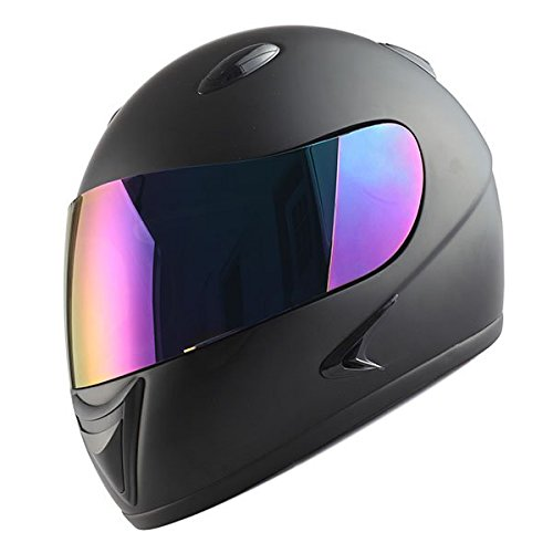 1Storm Motorcycle Street Bike BMX MX Youth Kids Full Face Helmet Matt Black (Youth Full Face Helmets compare prices)