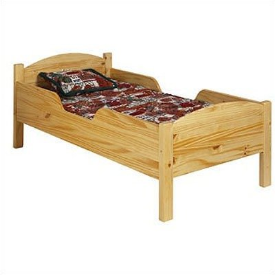 Little Colorado Traditional Toddler Bed, Honey Oak front-204028