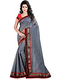 Bunny Sarees Chanderi Saree (Bro010-A_Grey)