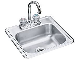 Neptune Elkay Ae1515clf Sink Bar W Faucet 15 X15 X5 Stainless Steel Bar Sinks Amazon Canada