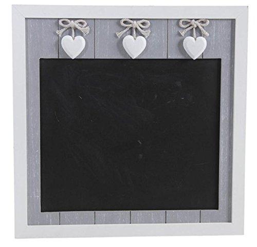 tableau noir ardoise murale en bois coeurs les petites. Black Bedroom Furniture Sets. Home Design Ideas