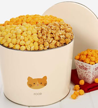 Tins With A Spin Kitty Design - Kitty Kibble 3 Flavor Popcorn