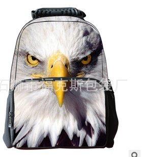 koson-man-3d-tier-niedliche-kinder-rucksack-laptop-eagle-braun-kmukb46