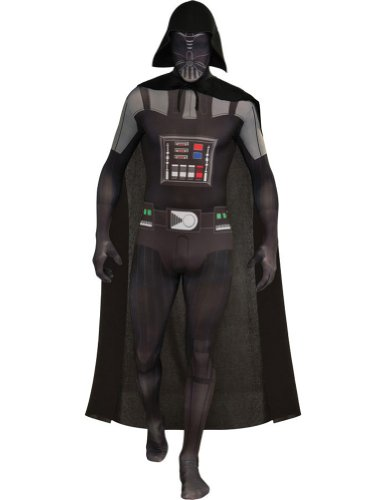 Adult-Costume Darth Vader Skin Suit Adult Costume Lg Halloween Costume