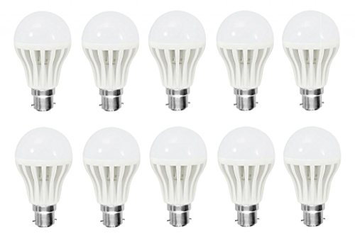 7W Bright White B22 LED Bulb (Set of 10)