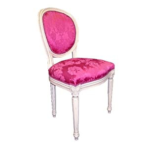 finish pink damask louis bedroom chair kitchen home