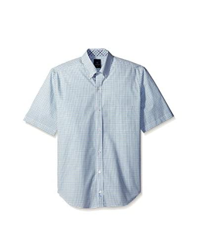 Tailorbyrd Men's Short Sleeve Button-Down with Contrast Placket