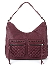 Limited Edition Studded & Quilted Hobo Bag