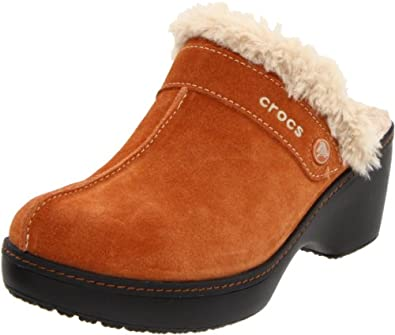 furry clogs or mules