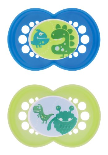 Mam Monsters Silicone Pacifier, Boy, 6 Plus Months, 2-Count front-1043558
