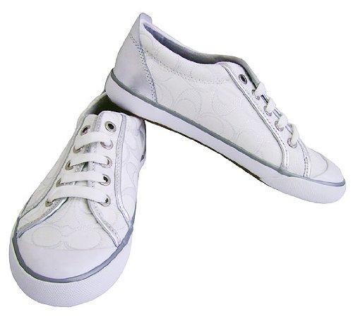 white coach shoes