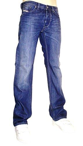 Diesel Uomo Larkee 8XR Straight Jeans, Blu, 34W x 34L
