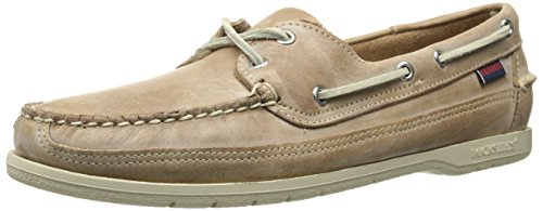 Sebago Men's Schooner Oxford, Taupe Waxy Leather, 8.5 M US/D