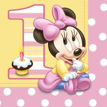 Hallmark Minnie's 1st Birthday Lunch Napkins - 16 ct