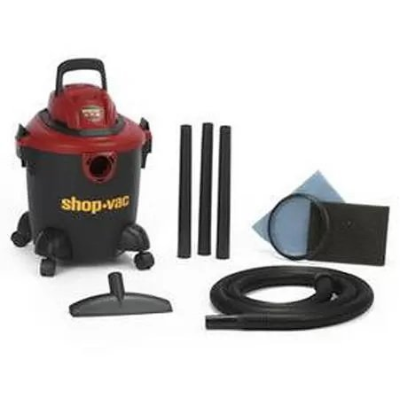 2.0 peak HP Motor, 6' Power Cord, Rear Blower Port, 3 Extension Wands, 5-Gallon Vacuum, Black (3 Shop Vac Hose compare prices)