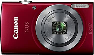 Canon IXUS 160 Digitalkamera (20 Megapixel, 8-fach optisch, Zoom, 16-fach ZoomPlus, 6,8 cm (2,7 Zoll) LCD-Display, HD-Movie 720p) rot