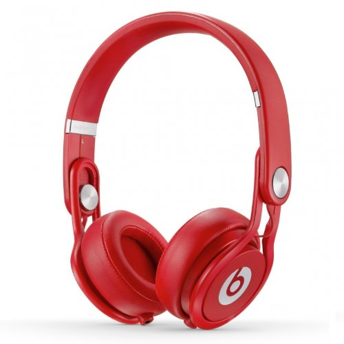 Beats by Dr. Dre Mixr Series Swivel Earcup Closed Back Lightweight DJ Headphones (Red)