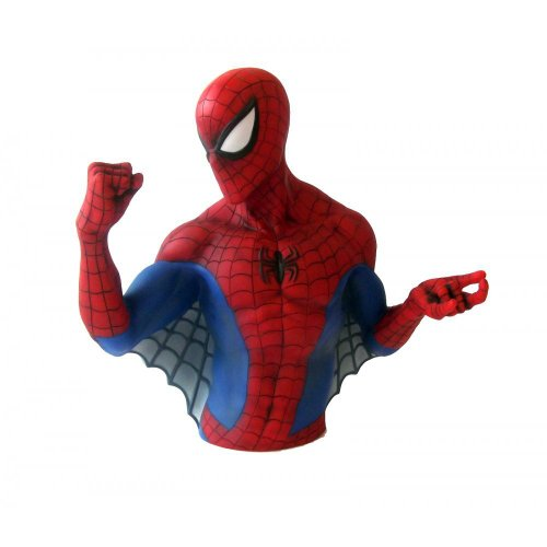 "Marvel The Amazing Spider-man Bust Money Bank - Resin 6"" Picture"