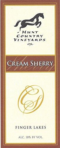 Nv Hunt Country Cream Sherry Finger Lakes Estate Bottled 500Ml
