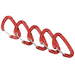 Wild Country Helium Clean Wire Carabiner - 5 pack red
