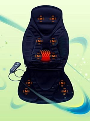 FIVE STAR FS8812 10-MOTOR MASSAGE SEAT CUSHION WITH HEAT, new