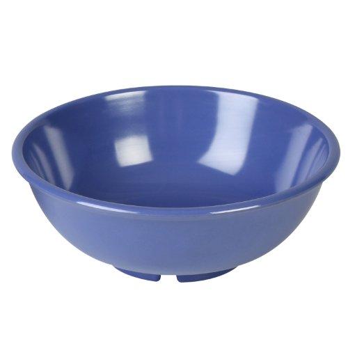 Excellanté Blue Melamine Collection 7-1/2-Inch Salad Bowl, 24-Ounce, Blue, 12-Piece