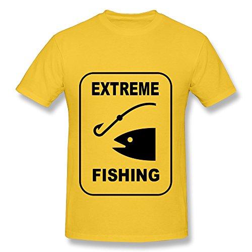 Design Crew Neck Cute Extreme Fishing Men'S T-Shirt