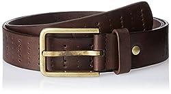 Parx Men's Leather Belt (8907116665265_85_Dark Brown)