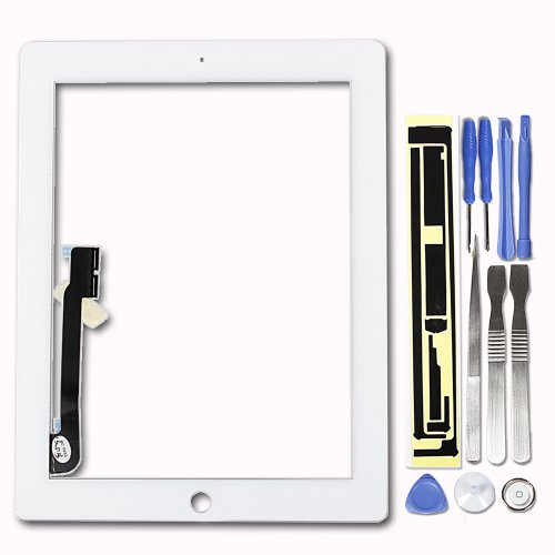 White Ipad 4 4Th Generation Digitizer Screen Replacement Touch Glass Panel
