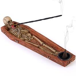Soporte para incienso de esqueleto
