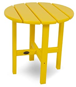 "POLYWOOD RST18LE Round 18"" Side Table, Lemon"