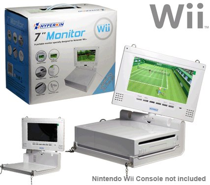 "Wii 7"" Lcd Portable Monitor"