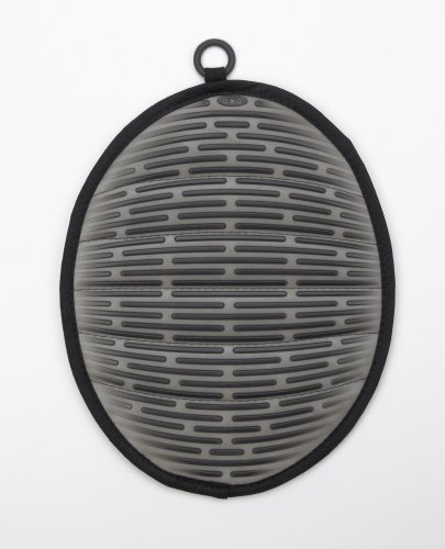 OXO Good Grips Silicone Pot Holder with Magnet, Licorice Black