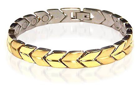 New Stainless Steel Magnetic Link Health Bracelet 7.5 ""