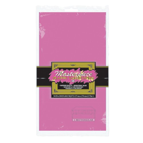 Masterpiece Plastic Rectangular Tablecover (cerise) Party Accessory  (1 count) (1/Pkg)