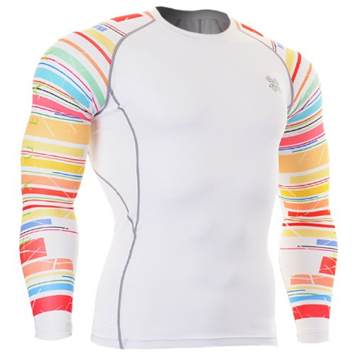 Fixgear Mens Womens Running Compression Gear White Base Layer Tee Shirt