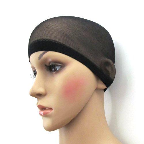 2Pcs Unisex Nylon Bald Wig Cap Stocking Liner Snood Mesh Stretch Hair Control