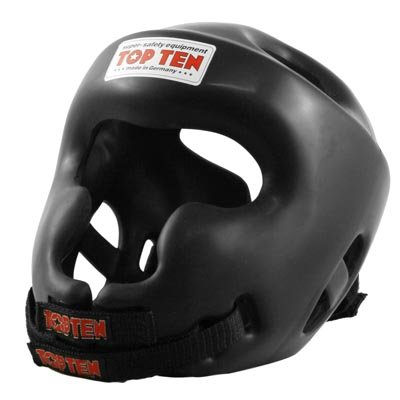 Top Ten Full Protection Sparring Head Guard - Black