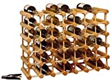 J.K. Adams MWR-40 Hardwood 40-Bottle Wine Rack, Natural
