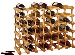 J.K. Adams Hardwood 40-Bottle Wine Rack, Natural