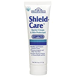 Miracle of Aloe ShieldCare BEST Barrier Cream Skin Protectant Soothes Sensitive Tissue Irritation Due To Incontinence Compare To Vaseline Aveeno Remedy Olivamine Secura Dimethicone Corona Diaper Rash