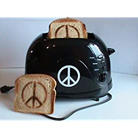 NEW & UNIQUE GIFT IDEA ~ Peace Sign Toaster ~ Hippie Approved ~ Peace & Love ~ Breakfast, Lunch & Dinner