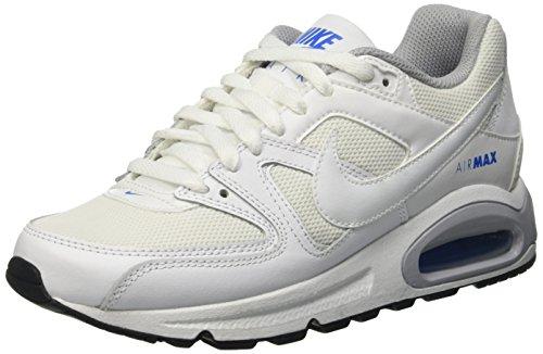 Nike Air Max Command (Gs) Scarpe da ginnastica, Bambino, Bianco (White/White-White-Black), 38