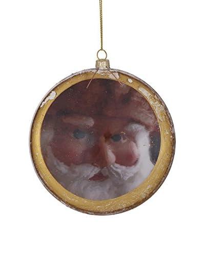 Winward Antique Santa Disk Ornament, Multi